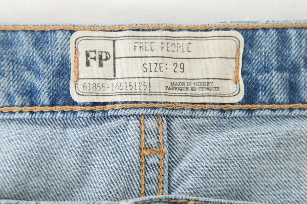 FREE PEOPLE Ombre Cut Off Denim Shorts Size 29