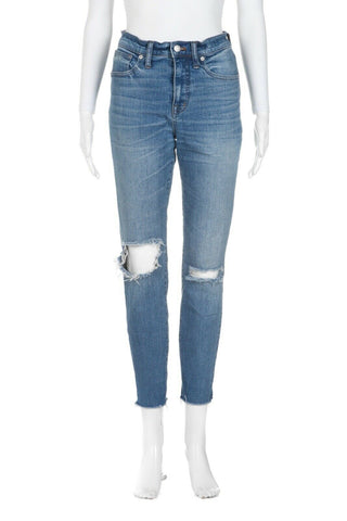 MADEWELL High Waisted Distressed Skinny Jeans Size 28