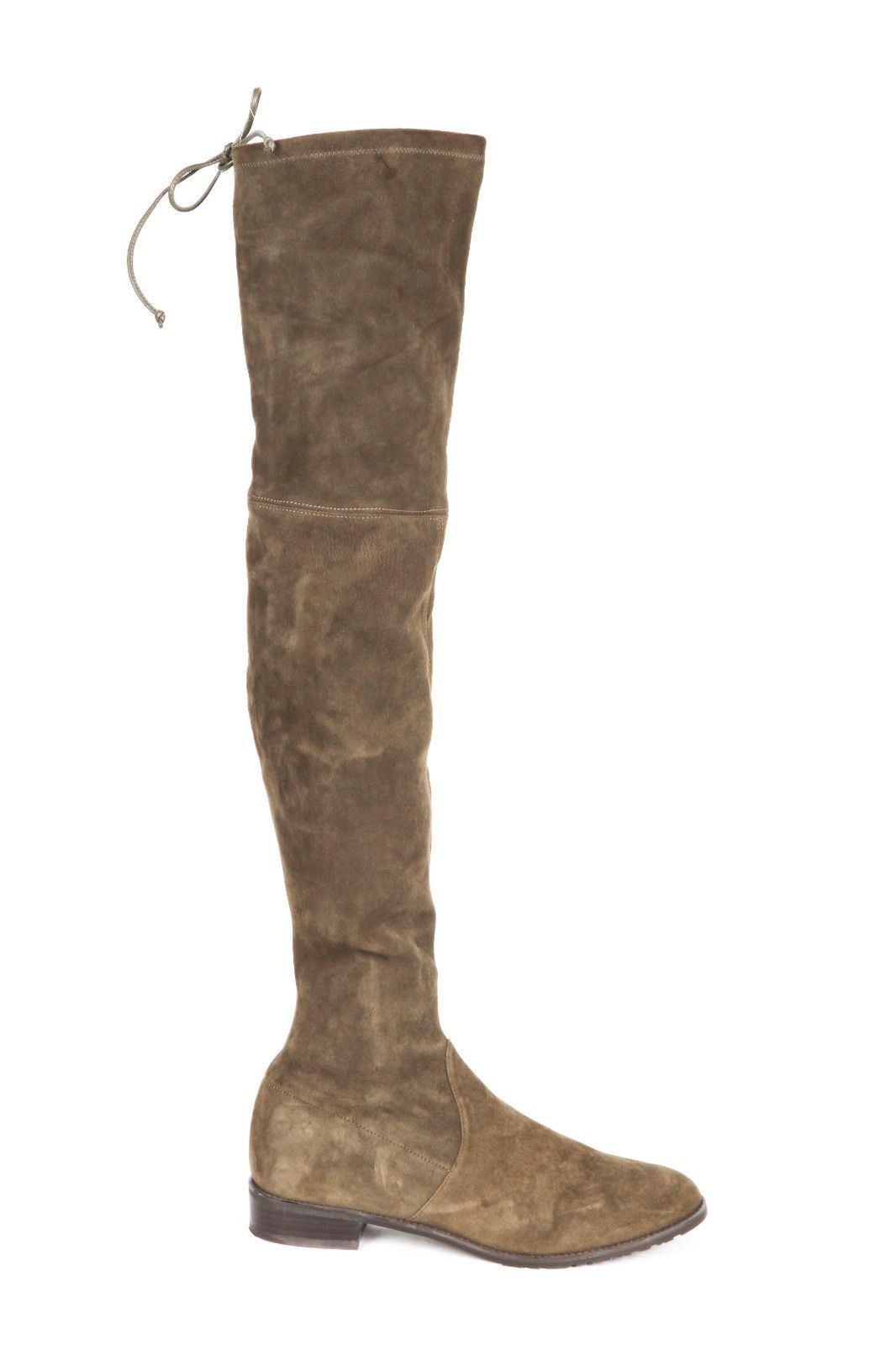 STUART WEITZMAN Olive Green Lowland Suede Over The Knee Boots Size 9.5