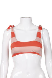 J.CREW Playa Striped Bikini Top Size L (New)