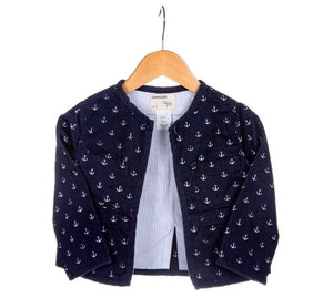 CREWCUTS Anchor Print Jacket Size 2T