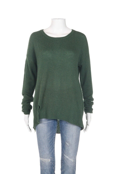 WHITE + WARREN High Low 100% Cashmere Sweater Size M