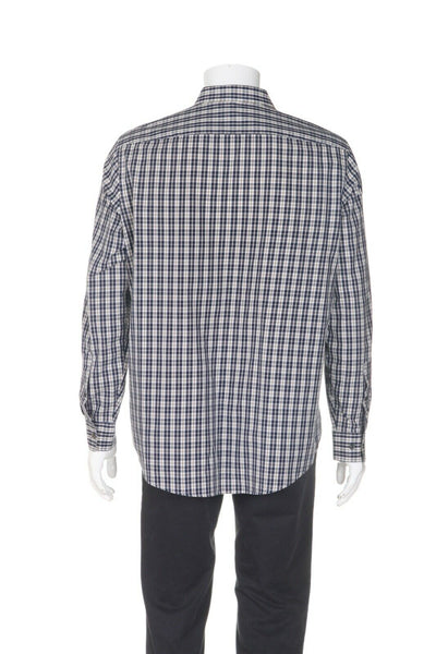 MICHAEL KORS Plaid Dress Shirt - back view