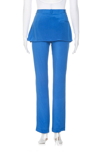3.1 PHILLIP LIM Slim Trousers with Skirt Overlay - back view