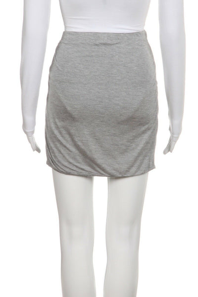 BELLA LUXX Gray Jersey Mini Skirt Ruched Size M