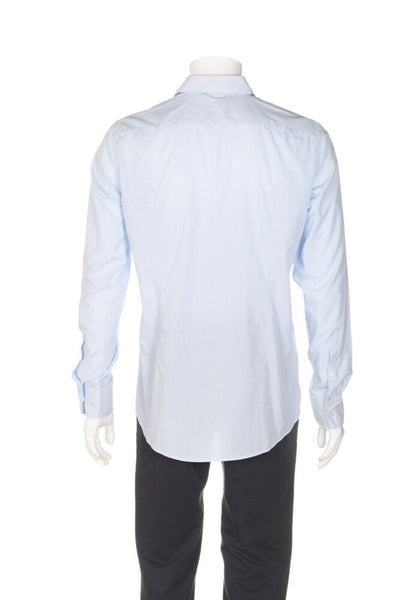 HUGO BOSS Striped Sharp-Fit Dress Shirt - back view