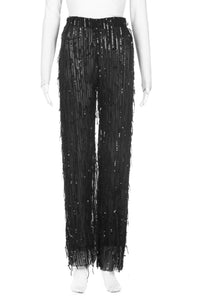 ZARA Sequin Embellished Sheer Dress Pants Size S