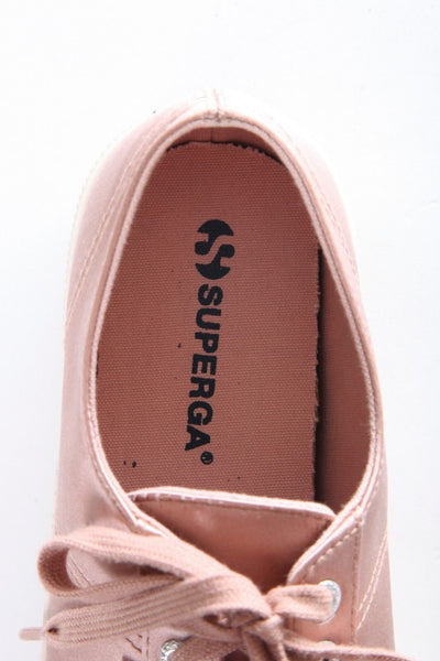 SUPERGA Dusty Rose Blush Pink Low Satin Sneakers Size 11