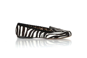 WARREN EDWARDS Zebra Print Pony Hair Loafers Size 8.5
