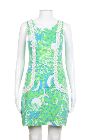 LILLY PULITZER Printed Dress with Embroidery Size 2