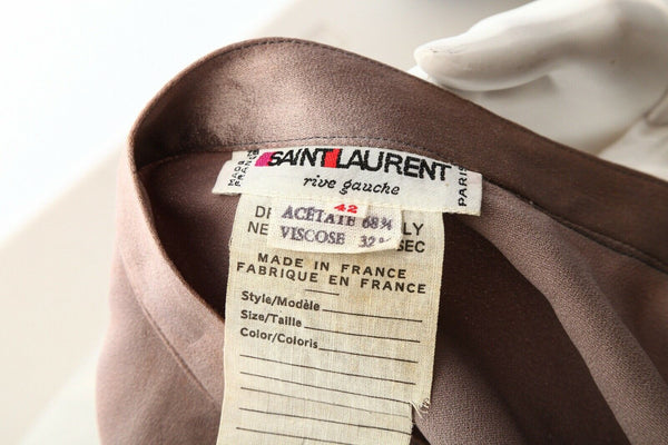 YVES SAINT LAURENT Rive Gauche Satin Skirt Size 42 (L)