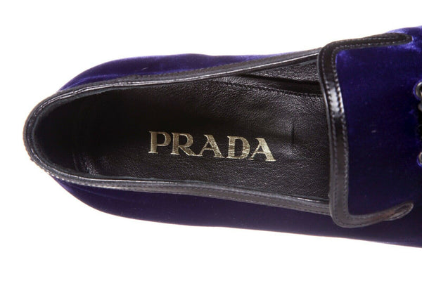 PRADA Men's Velvet Loafers Size 9.5 (New)