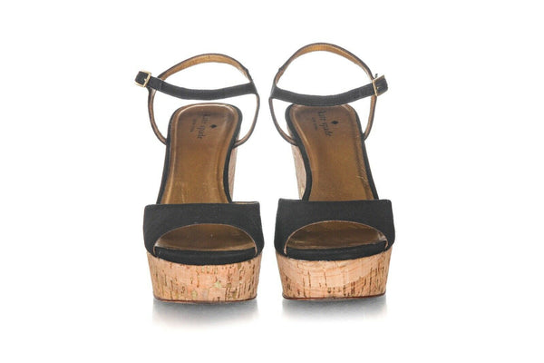 KATE SPADE Penny Cork Wedge Sandals Size 9