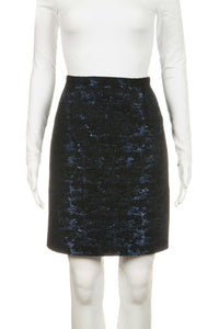 CARMEN MARC VALVO Metallic Pencil Skirt Size S