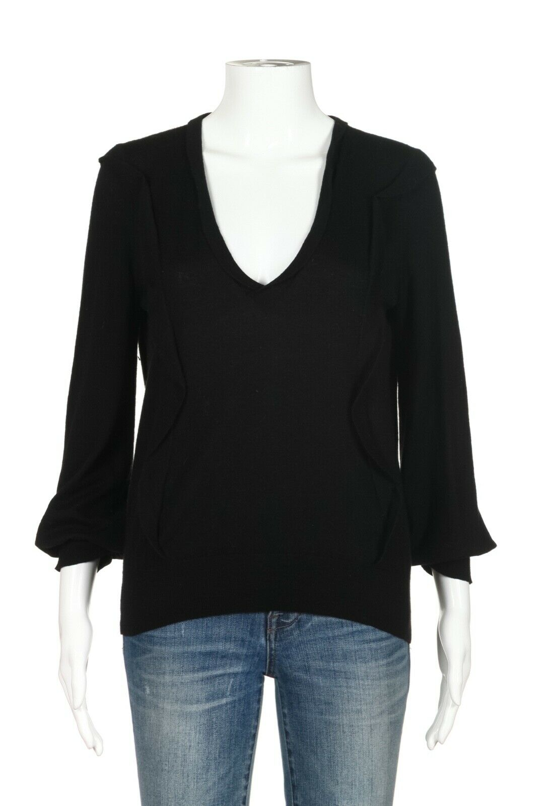 LOUIS VUITTON V-Neck 100% Cashmere Sweater Size M