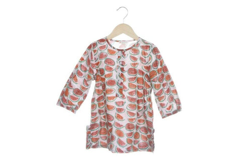 Watermelon Print Tunic Shirt Size 4