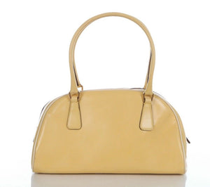 PRADA Yellow Leather Shoulder Bag Handbag