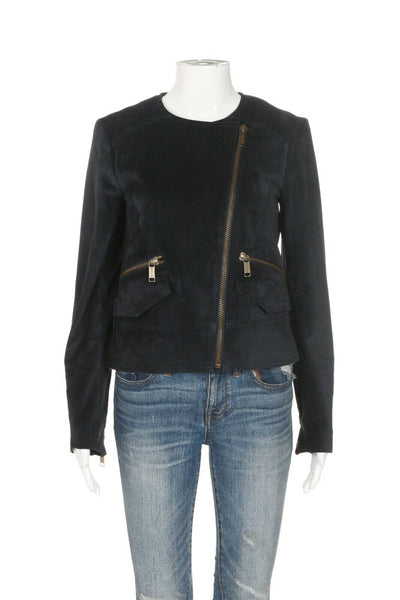 MICHAEL KORS Suede Leather Coat Size XS
