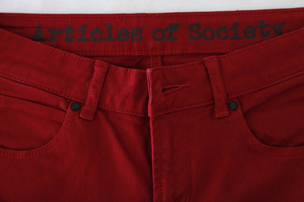 Red Skinny Pants Size 26