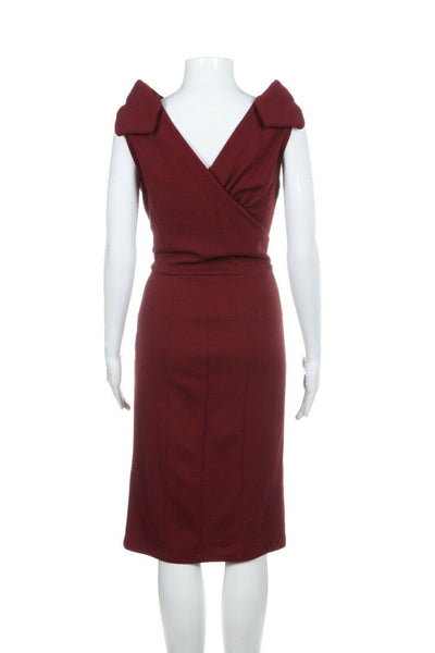 ARMANI COLLEZIONI Wool Fitted Cocktail Dress Size 6