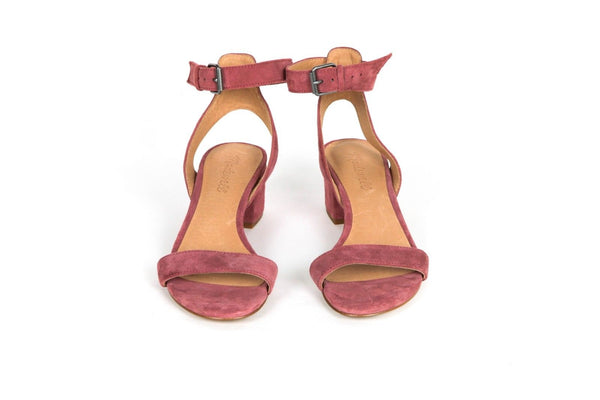 MADEWELL Dusty Rose Suede Block Heel Sandals Size 6
