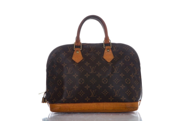 LOUIS VUITTON Brown PM Monogram Alma Bag