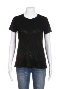 ATM Short Sleeve Metallic Shimmer Tee Size XS