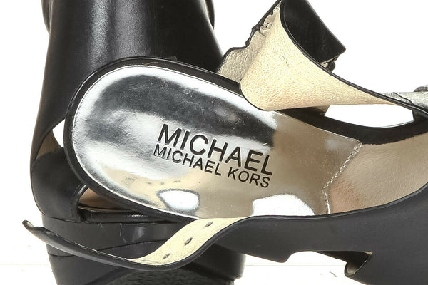 MICHAEL KORS Leather Platform Sandals Size 6.5