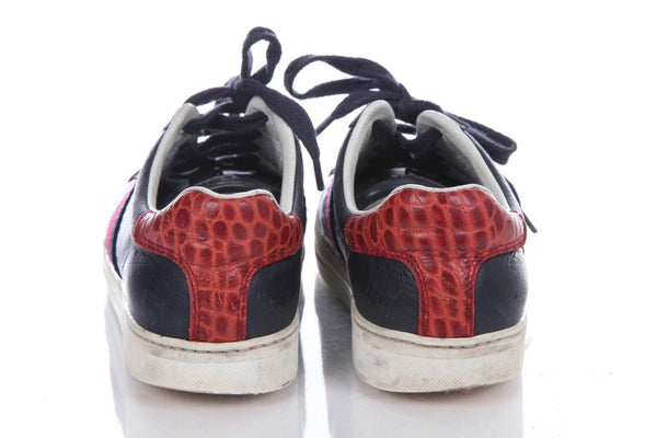 GUCCI Boys Croc Leather Sneakers Size 12.5 EUR 30