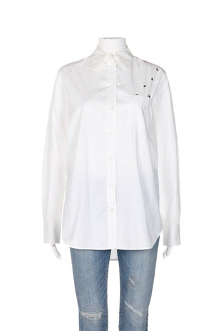 EQUIPMENT Kenton Bee Embroidered Shirt Size L
