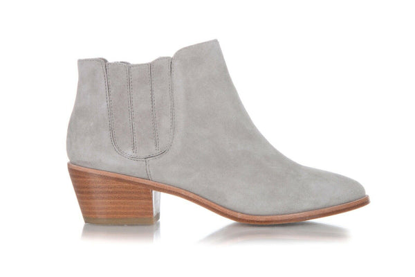 Gray Suede Leather Booties Size 37