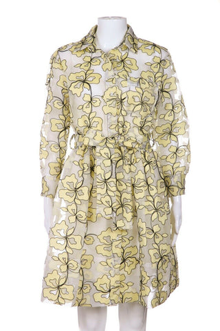 MAJE Reality Floral Embroidered Organza Dress Size 1 (S)