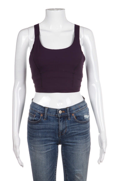 LULULEMON Pure Practice Sports Bra Top Purple Deep Zinfandel Size 6