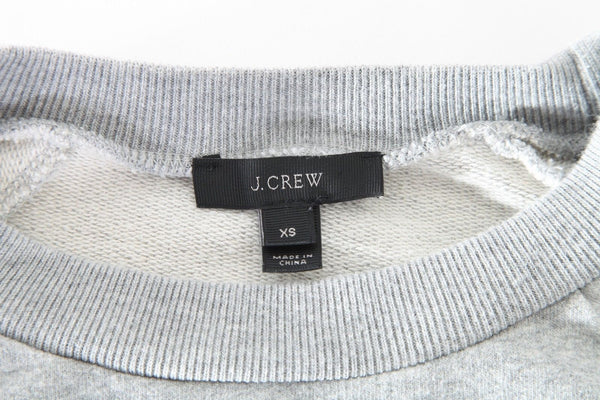 J.CREW Gray Brooklyn Cropped Sleeve Sweatshirt Size XS