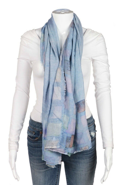 OTTOTREDICI Abstract Print Cashmere Blend Scarf