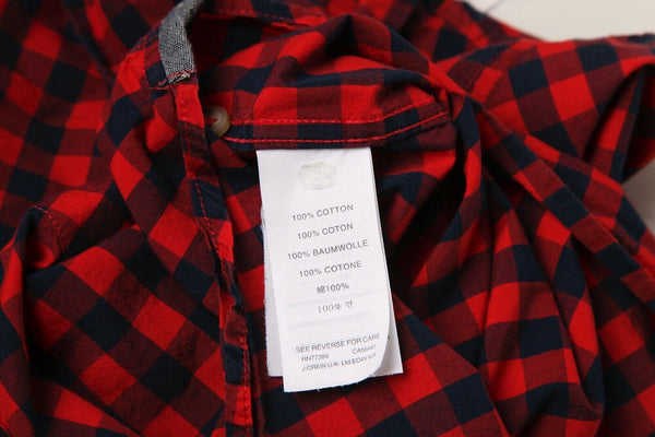CREWCUTS Checked Button Down Shirt Size 4 / 5