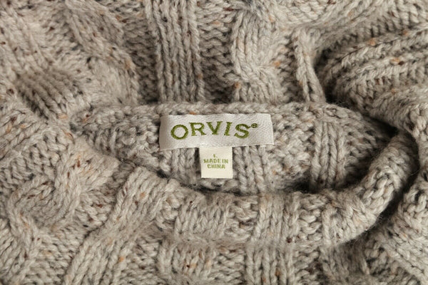 ORVIS Chunky Knit Turtleneck Sweater Size L