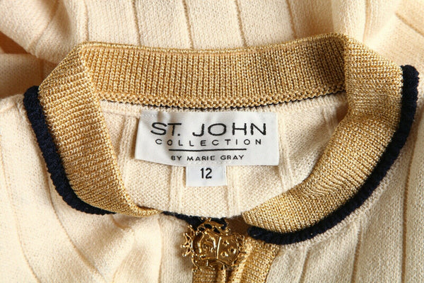 ST. JOHN by Marie Gray Knit Crest Sweater - tag
