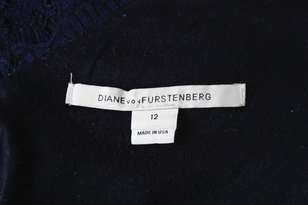 DIANE VON FURSTENBERG Lace Cocktail Dress - tag