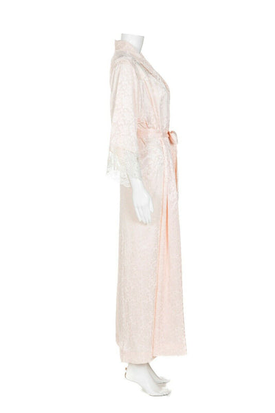 CHRISTIAN DIOR Vintage Satin Robe - side view