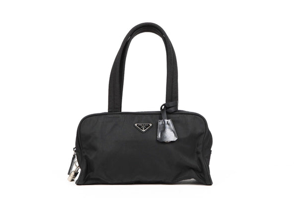 PRADA Black Shoulder Nylon Bag Small Handbag