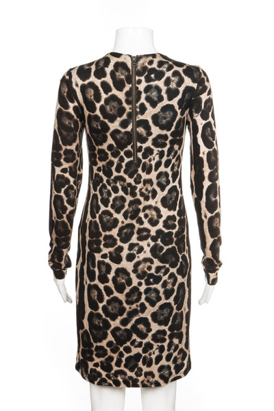 VELVET by GRAHAM & SPENCER Leopard Print Long Sleeve Dress Size S