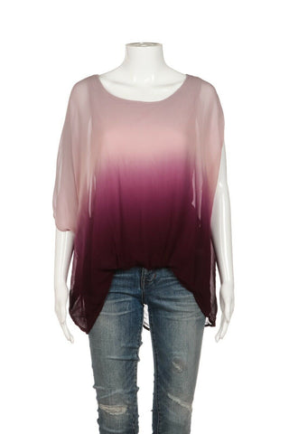 YOUNG FABULOUS & BROKE Loose Ombre Top Size S