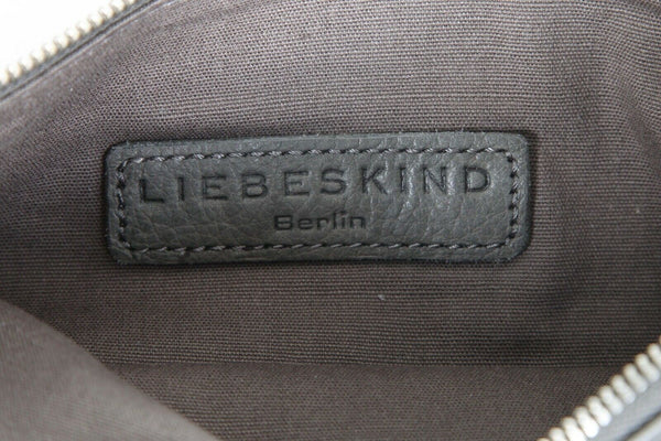 LIEBESKIND Berlin Gray Leather Shoulder Bag Purse (New)