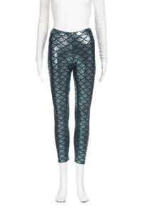 BLACK MILK Metallic Scale Print Yoga Pants Size M