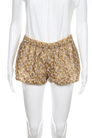 O'NEILL Gold Sequin Shorts Size S