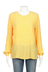 GIANNI Vintage Long Sleeve Top Size Petite 8