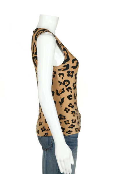 BLUMARINE Knit Cheetah Print Top Size IT40 (S)