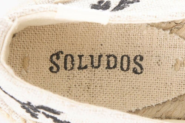SOLUDOS Embroidered Espadrille Loafers Size 7