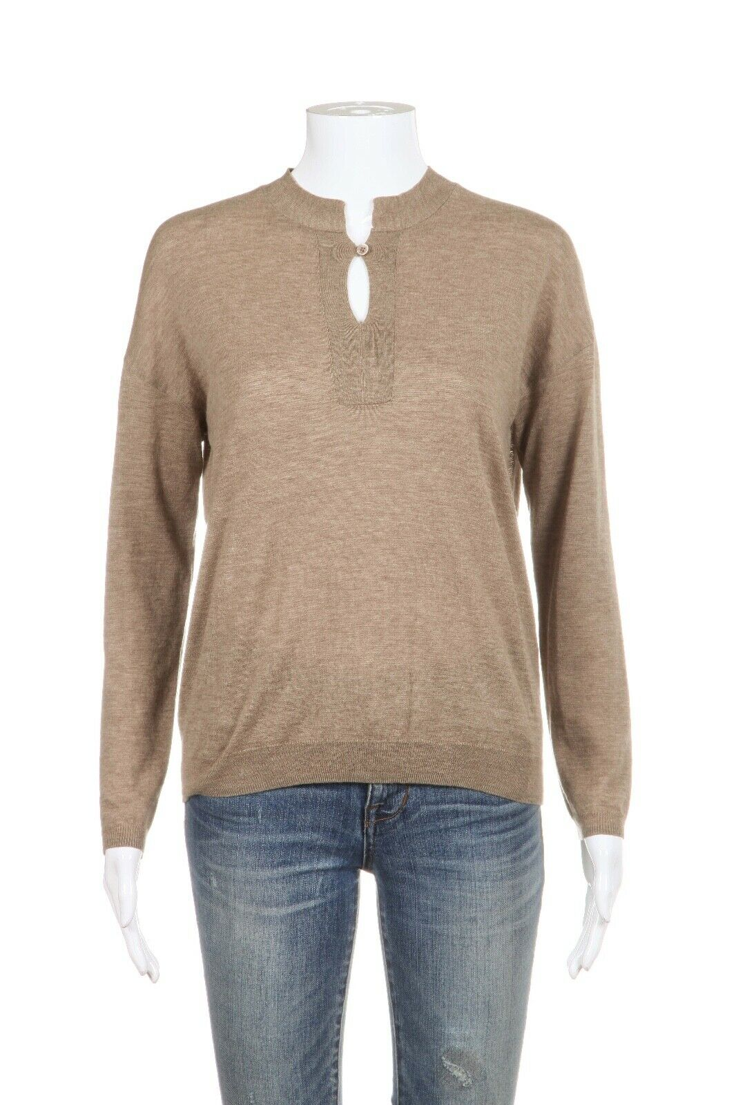 FACONNABLE Thin Knit Wool Silk Sweater Size S